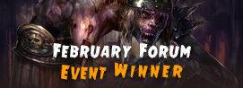 February Forum Event Winner