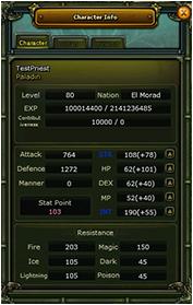 Character Info Window
