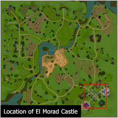 Location of El Morad Castle