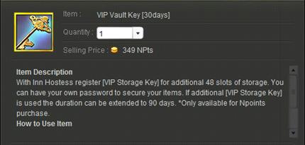 VIP Vault Key
